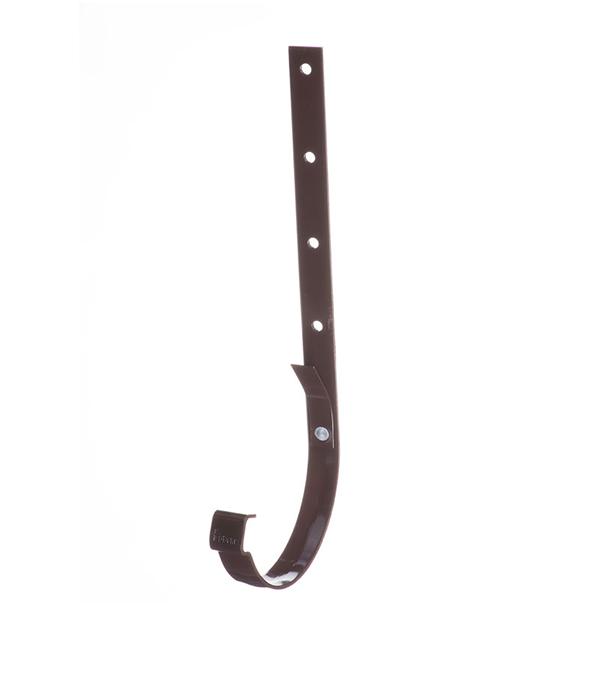 Кронштейн желоба Docke Lux металлический 300 мм шоколад RAL 8019 фото
