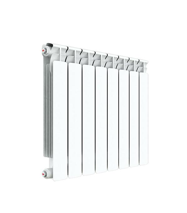 """Радиатор биметаллический Rifar Alp 500 мм 6 секций 1"""" боковое подключение белый"""