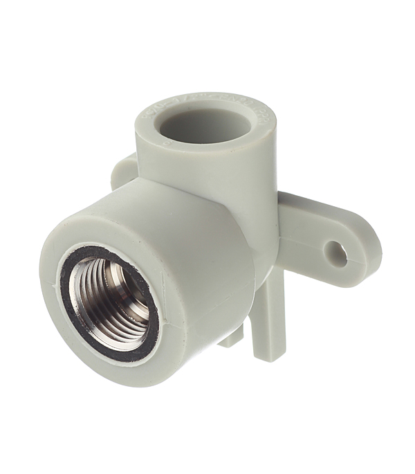 Водорозетка полипропиленовая FV-PLAST (219020) 20 мм х 1/2 ВР(г) серая