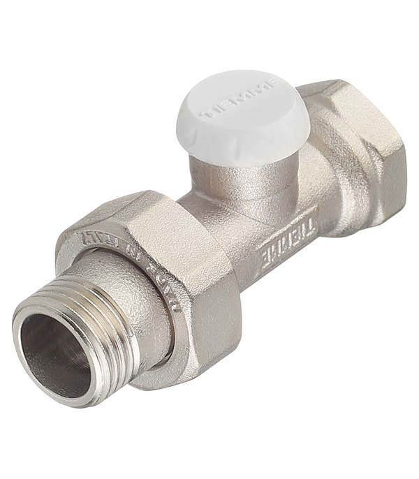 Клапан (вентиль) запорный прямой Tiemme (3230003) 1/2 НР(ш) х 1/2 ВР(г) для радиатора клапан вентиль запорный прямой tiemme 3 4 нр ш х 3 4 вр г для радиатора