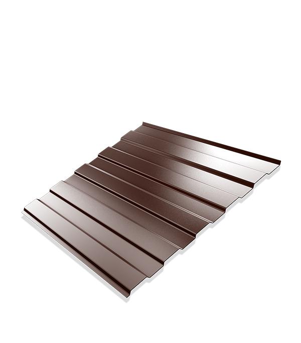 Профнастил С8 1,2х2 м 0,4 мм двухсторонний коричневый RAL 8017
