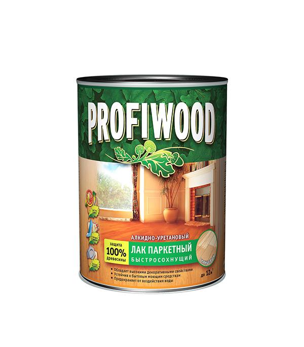 Лак алкидно-уретановый паркетный Profiwood бесцветный 0,8 л/0,7 кг глянцевый