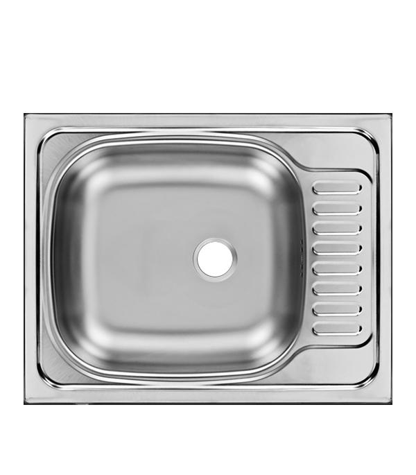 цена на Мойка для кухни UKINOX Классика 560x435х140 мм врезная прямоугольная с крылом сталь