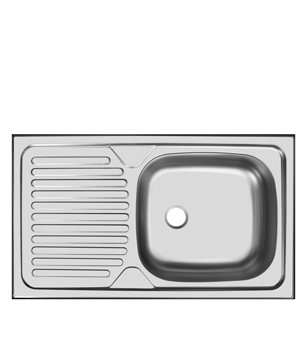 Мойка для кухни UKINOX Классика 760x435х140 мм врезная прямоугольная с крылом сталь