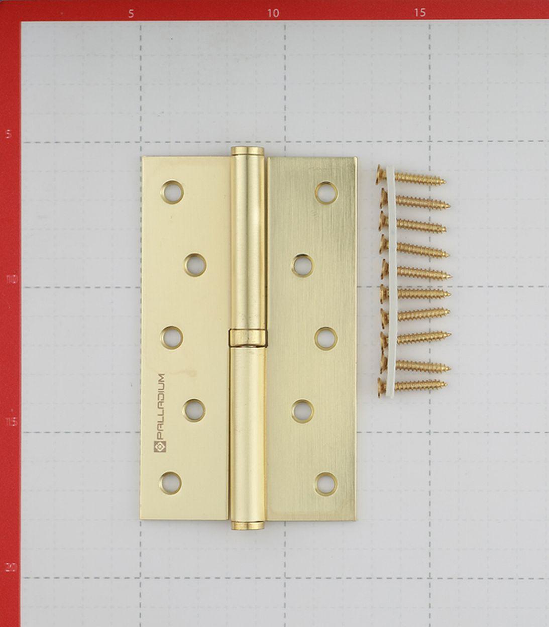 Петля Palladium N 613-S-5 SB левая разъемная 125х75 мм латунь