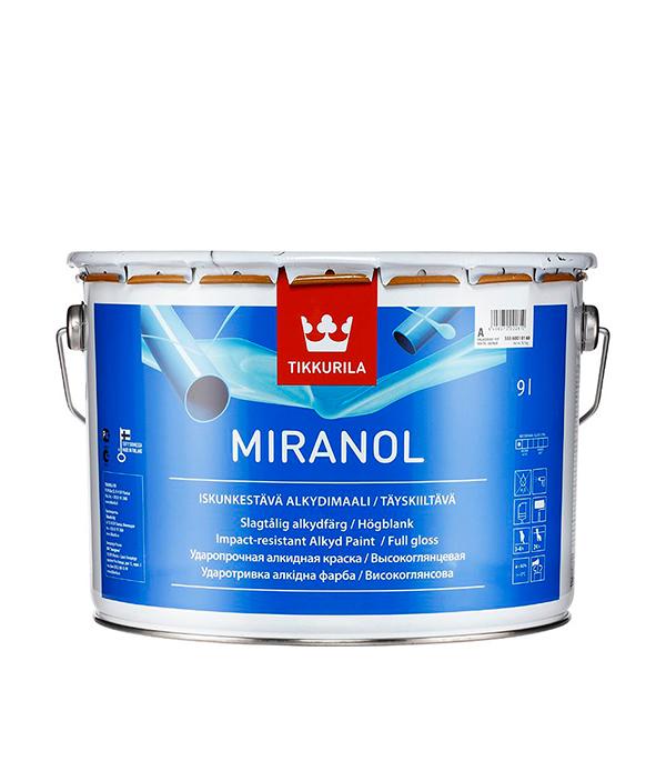 Эмаль алкидная Tikkurila Miranol основа А глянцевая 9 л эмаль алкидная miranol a 0 9л тиксотр
