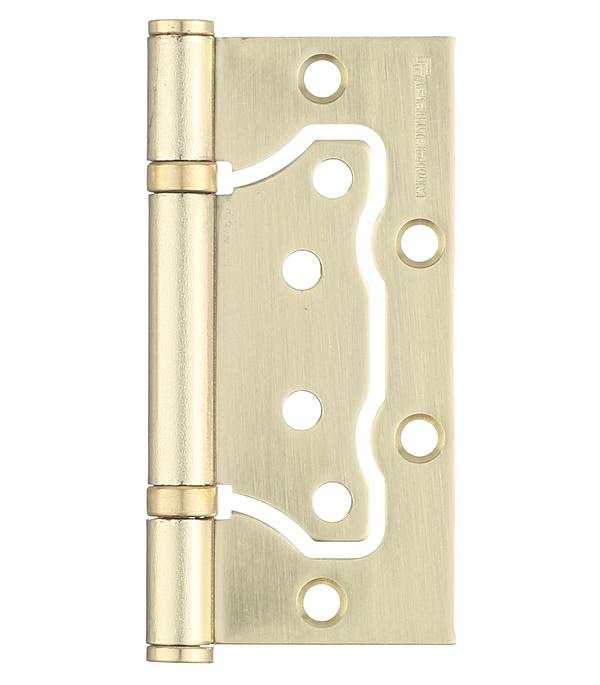 Петля Palladium 2BB-100 SB бабочка универсальная неразъемная 100х75 мм матовая латунь петля универсальная накладная 100 мм медь