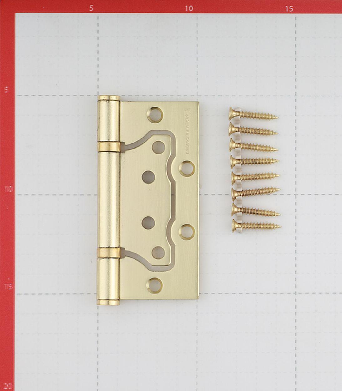 Петля Palladium 2BB-100 SB бабочка универсальная неразъемная 100х75 мм матовая латунь