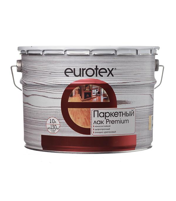 Лак алкидно-уретановый паркетный Eurotex Premium бесцветный 10 л полуматовый