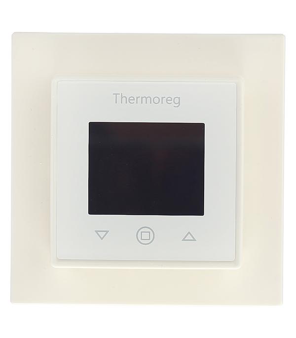 Терморегулятор программируемый для теплого пола Thermoreg TI 970 White белый стоимость