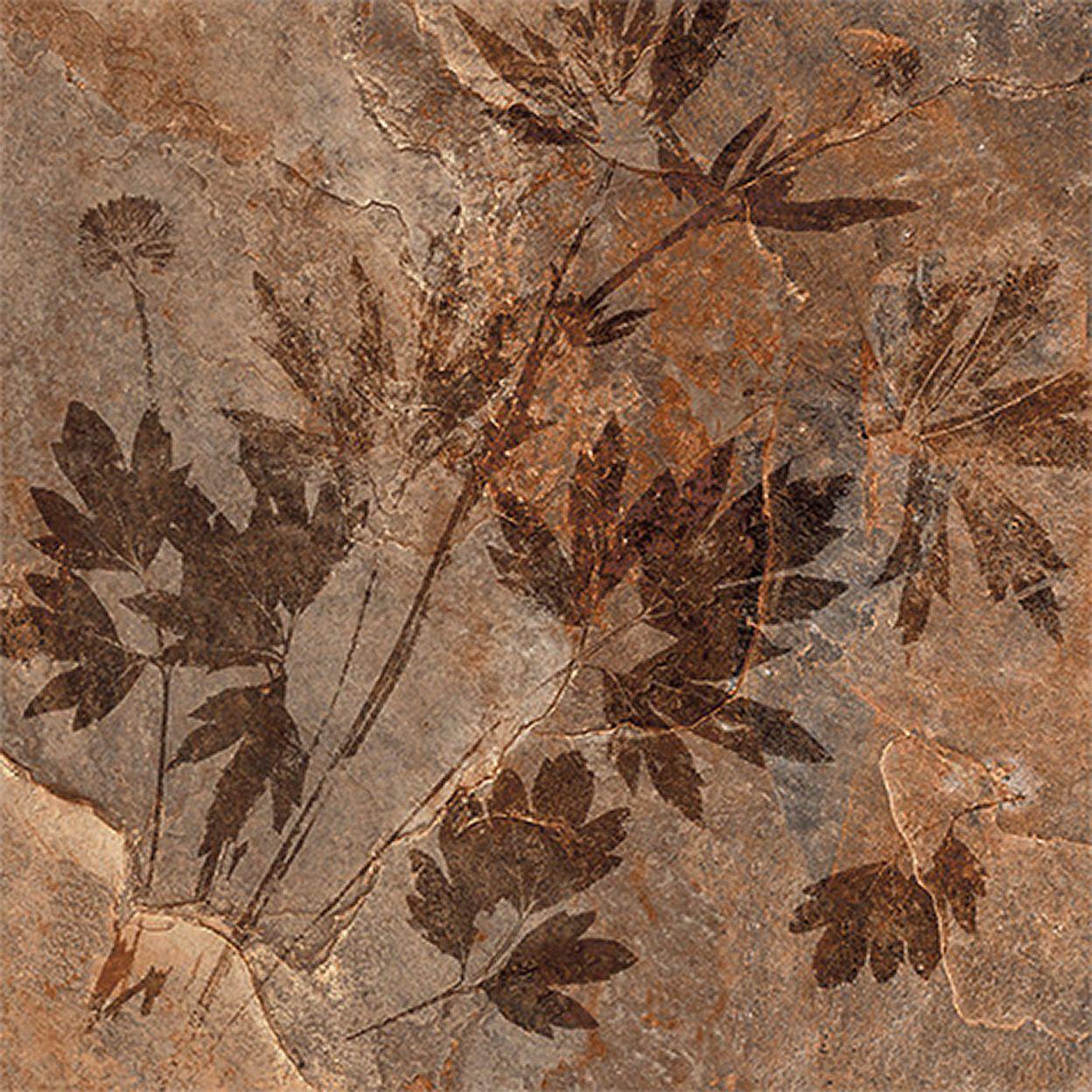 Керамогранит КЕРАМИН Денвер 4Д 400х400х8 мм терракотовые листья (11 шт=1,76 кв.м)