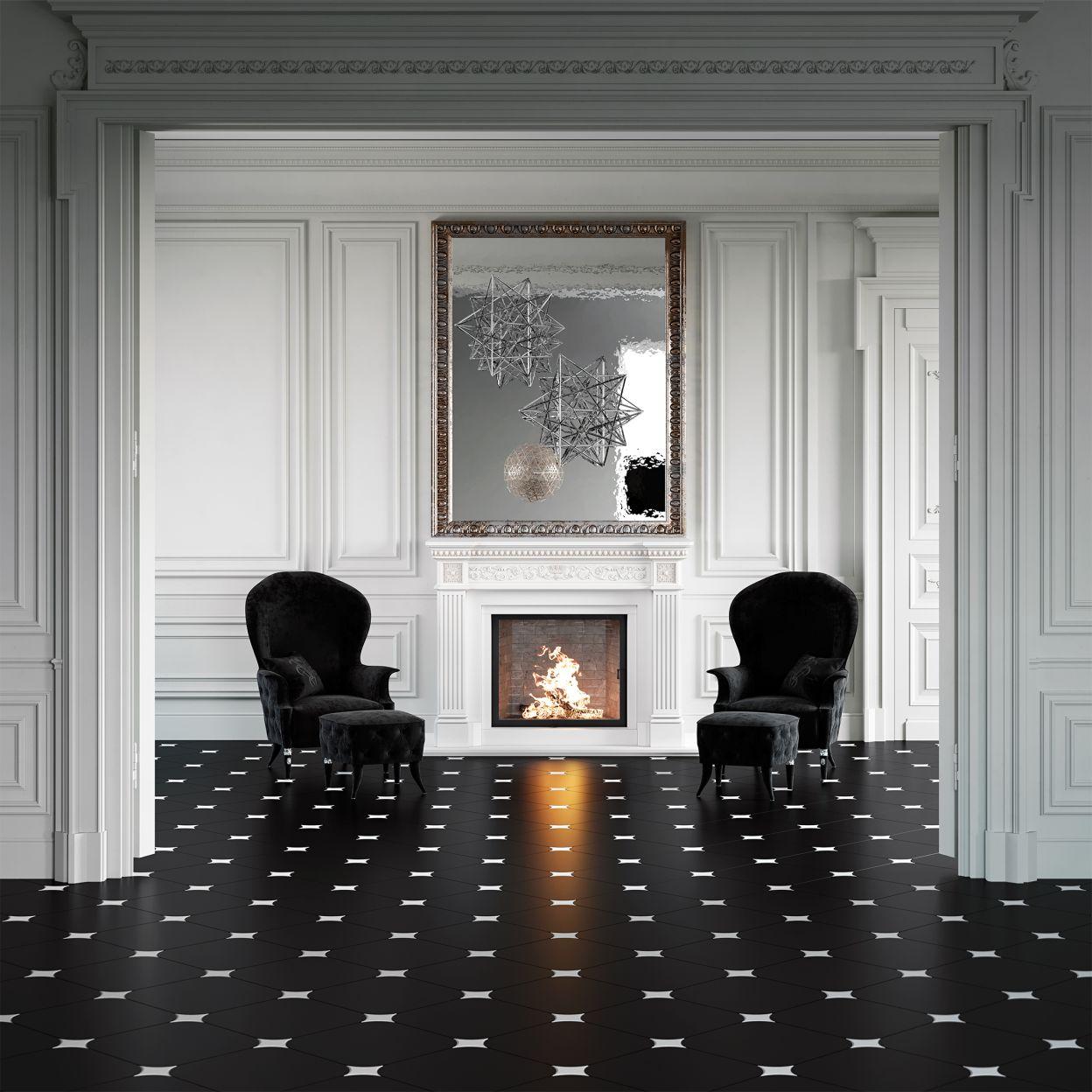 Керамогранит Gracia Ceramica Queen черный 01 450х450х8 мм (8 шт.=1,62 кв.м) фото
