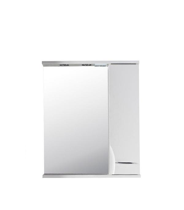 Зеркальный шкаф АСБ-Мебель Альфа 650 мм с подсветкой белый