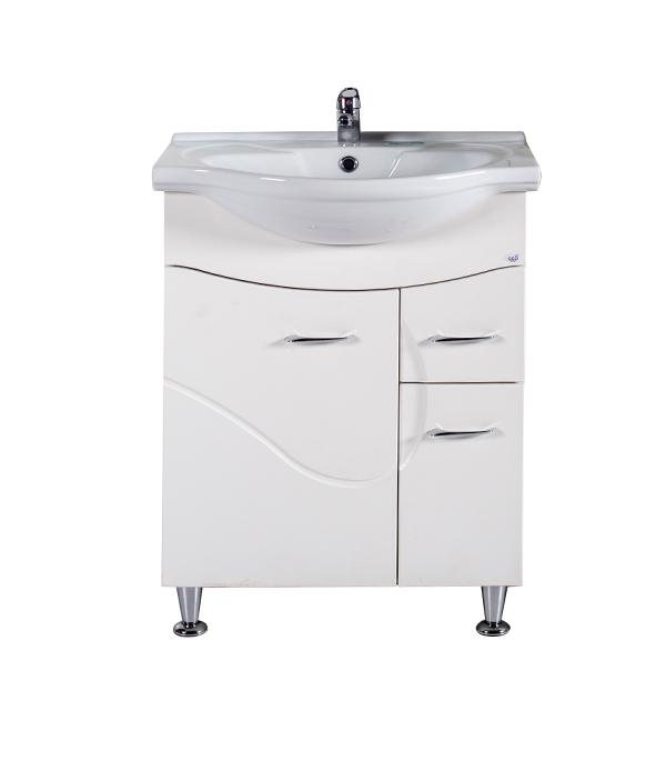Тумба под раковину АСБ-Мебель Альфа 650 мм напольная белая мебель для ванной эстет dallas luxe r 120 напольный два ящика белый
