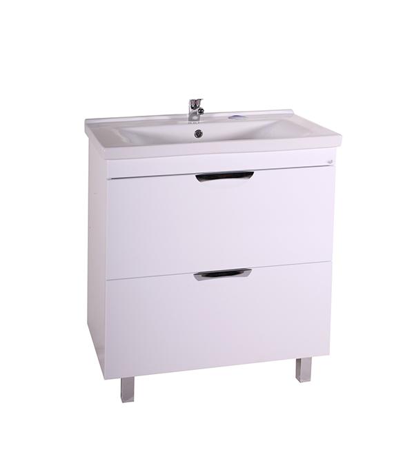 Тумба под раковину АСБ-Мебель  Миранда 800 мм напольная белая мебель для ванной эстет dallas luxe r 120 напольный два ящика белый