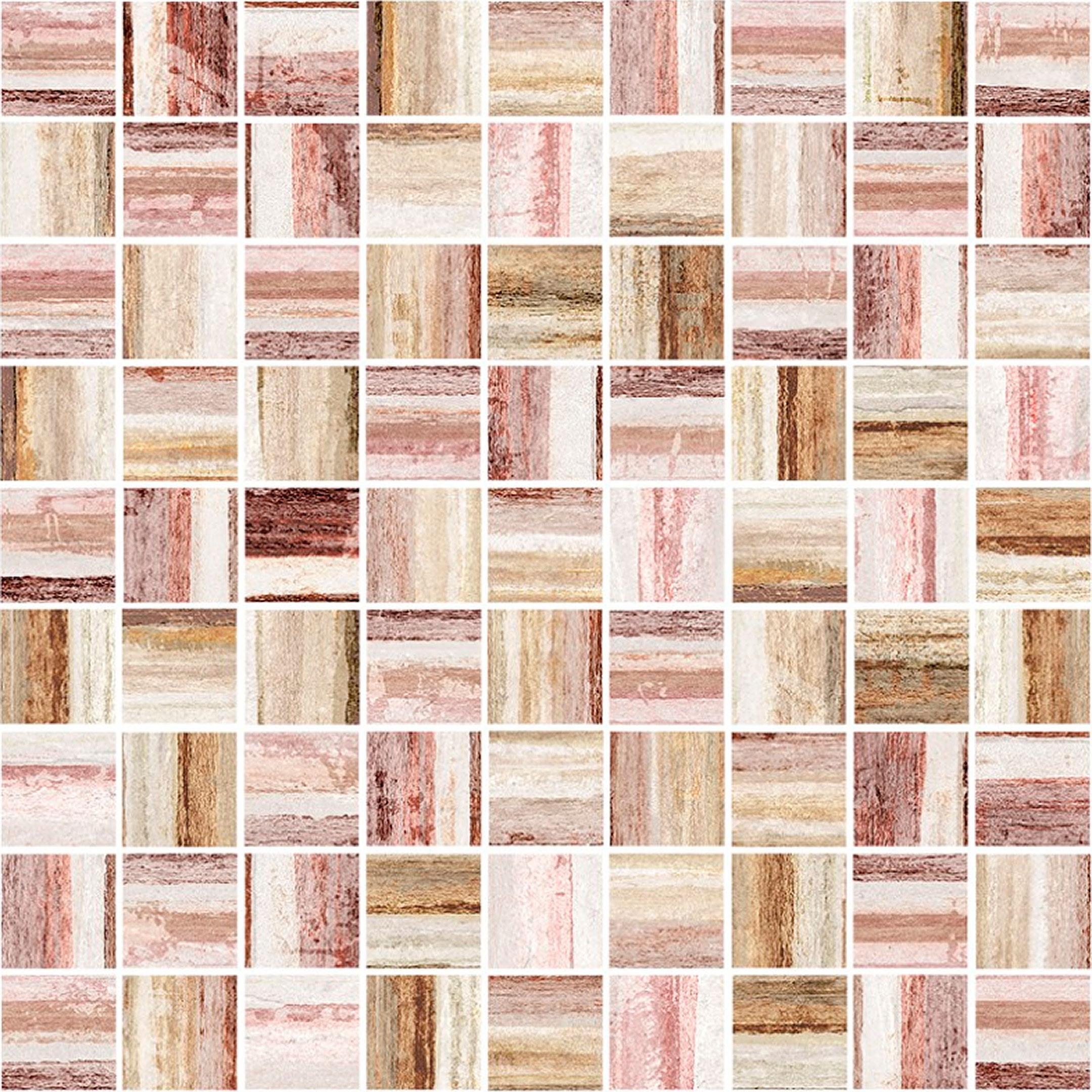 цена Плитка декор Cersanit Alba мозаика многоцветная 300x300x8,5 мм