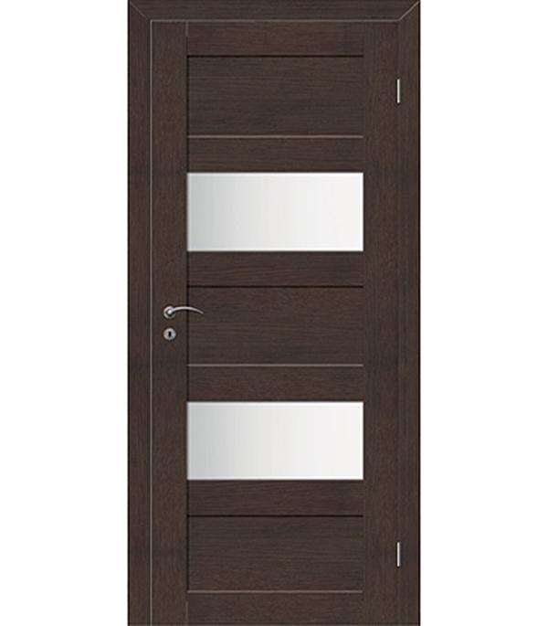 Фото - Дверное полотно VellDoris TREND 5P венге со стеклом экошпон 620x2000 мм ручка дверная 29 х 5 см