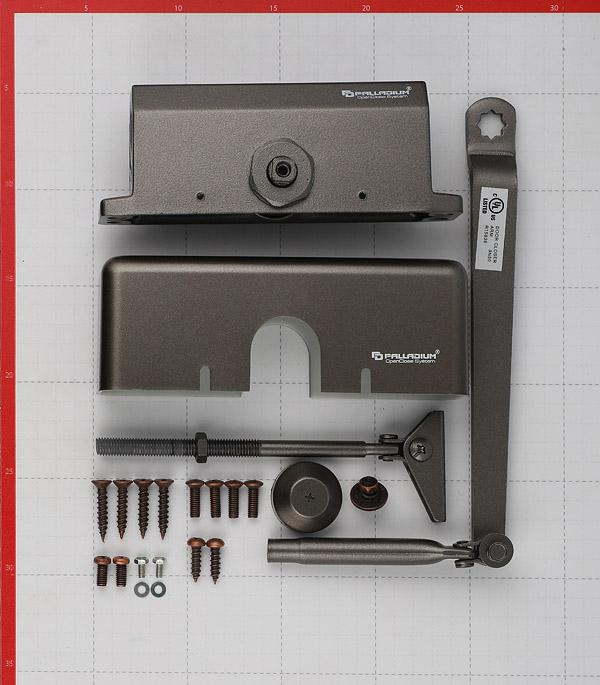 Доводчик дверной Palladium 1060 (до 60 кг) коричневый
