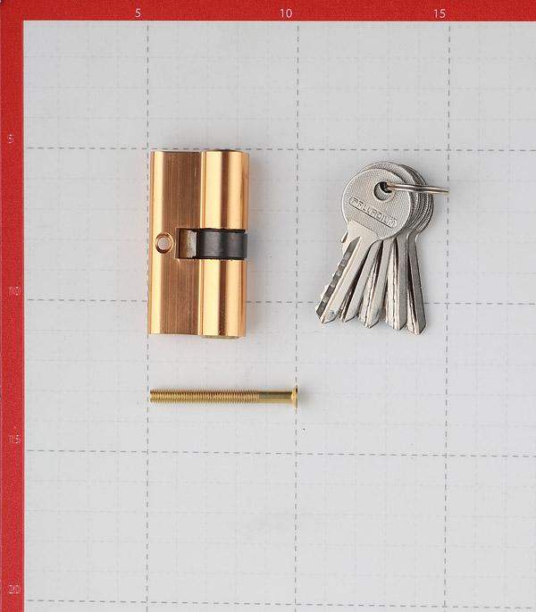 Цилиндр Palladium AL 60 PB 60 (30х30) мм ключ/ключ латунь