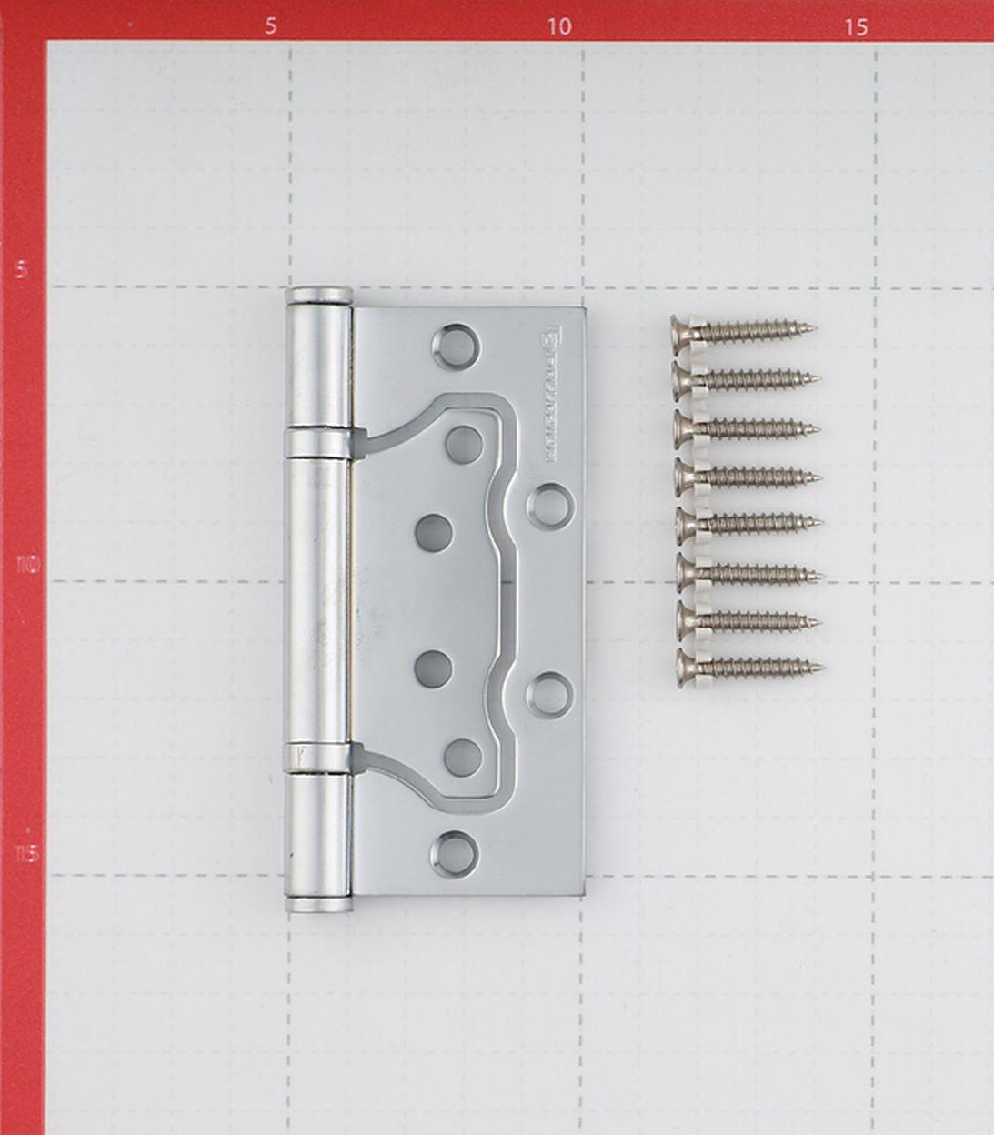 Петля Palladium 2BB-100 PC бабочка универсальная неразъемная 100х75 мм перламутровый хром