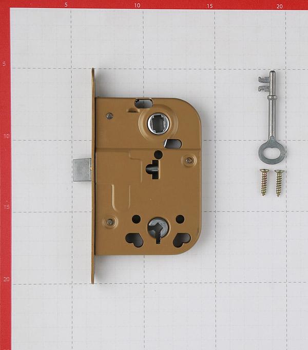 Замок врезной 2014 G для межкомнатной двери под завертку (фисташка) 1 ключ