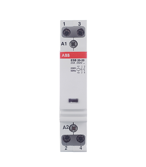 Контактор модульный ESB ABB 20А контактор abb 1sfl467001r1311