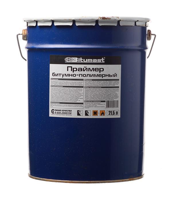 Праймер битумно-полимерный Bitumast 18 кг/21.5 л мастика для гибкой черепицы фиксер технониколь 23 3 6 кг 3 л