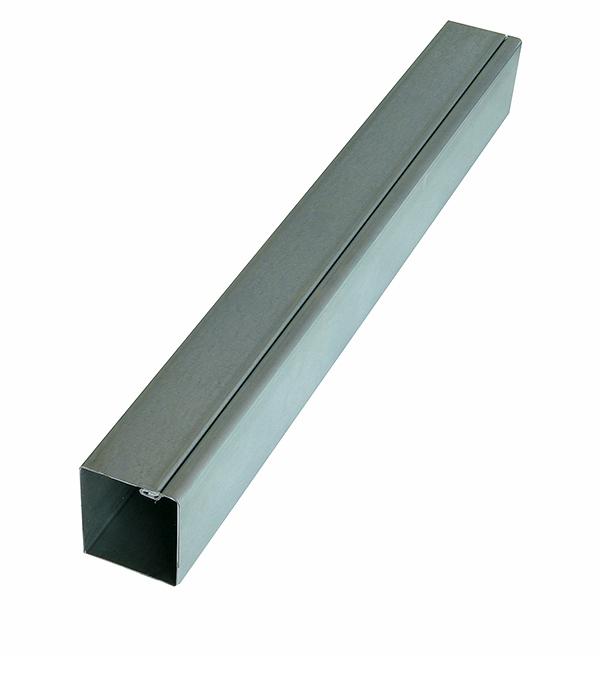 Столб для забора 62х55х1,4 мм 2,5 м оцинкованный столб для забора 62х55х1 4 мм 2 5 м оцинкованный