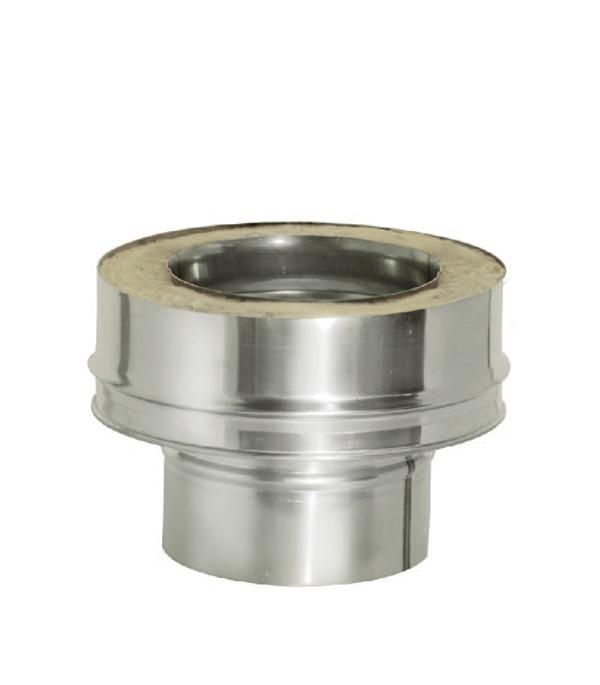 Переходник Дымок с d120 мм на d120х200 мм с изоляцией AISI 439