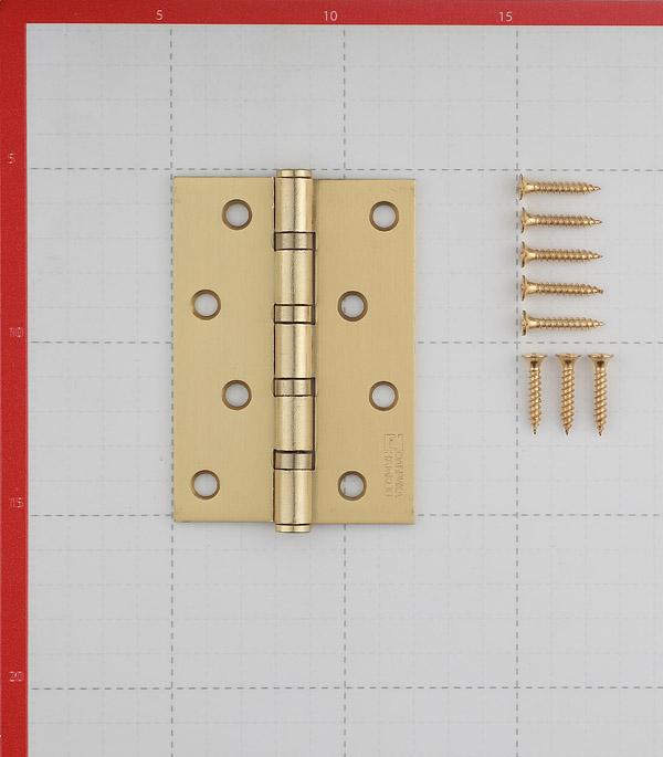 Петля ФЗ Е-100 SB универсальная неразъемная 100х75 мм латунь