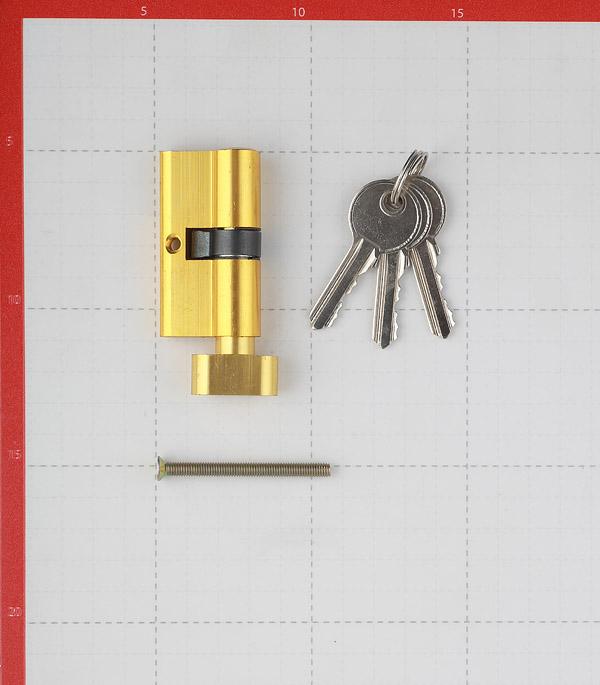 Цилиндр ФЗ E AL 60 PB Т01 60 (30х30) мм ключ-вертушка латунь