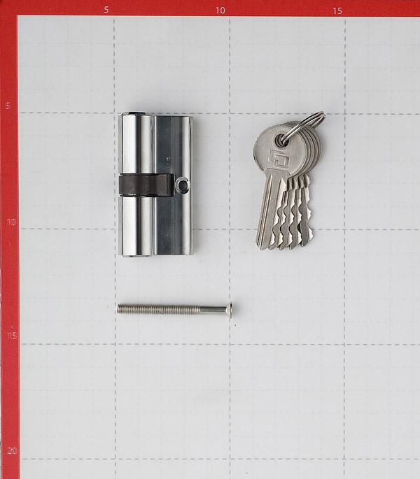 Цилиндр Palladium AL 60 CP 60 (30х30) мм ключ/ключ хром