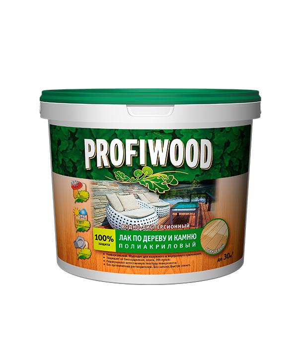 Лак акриловый по дереву и камню Profiwood бесцветный 2,2 кг глянцевый