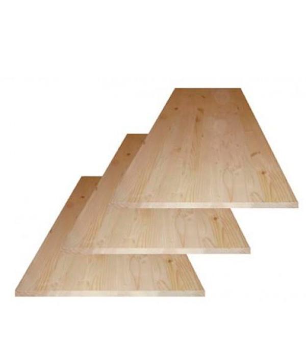 Щит мебельный хвоя 18х400х1600 мм сорт АВ клееный