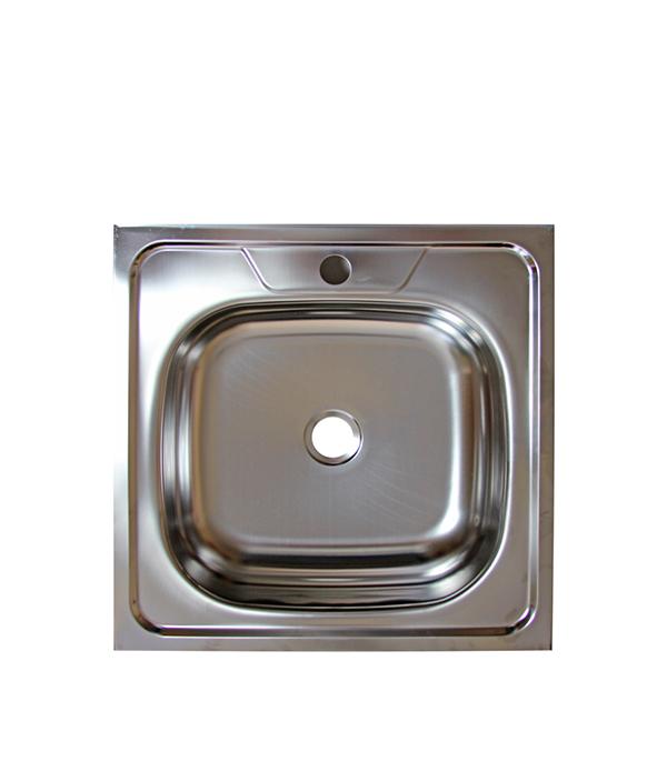 Мойка для кухни VLADIX 500x500х130 мм накладная квадратная без крыла сталь