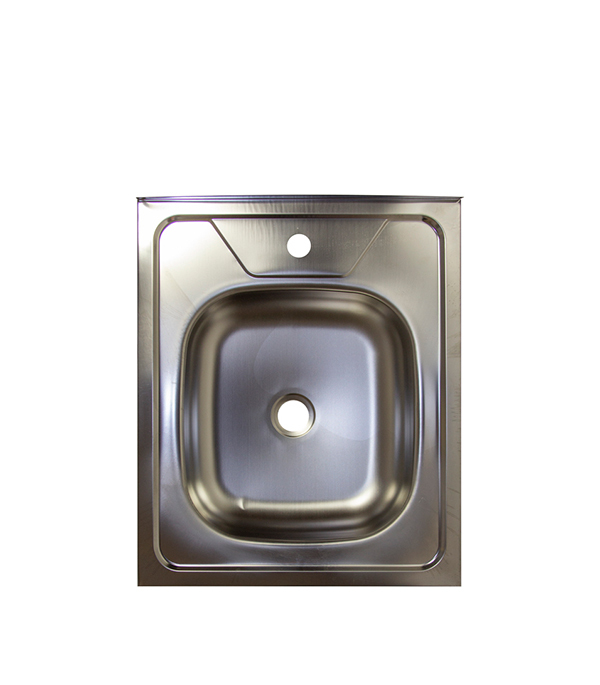 Мойка для кухни VLADIX 600x500х130 мм накладная прямоугольная без крыла сталь