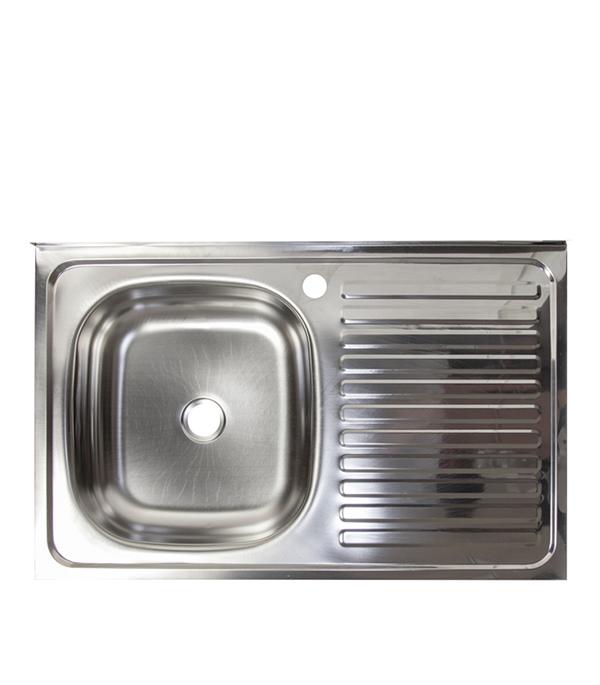 Мойка для кухни VLADIX 800x500х130 мм накладная прямоугольная крыло справа сталь