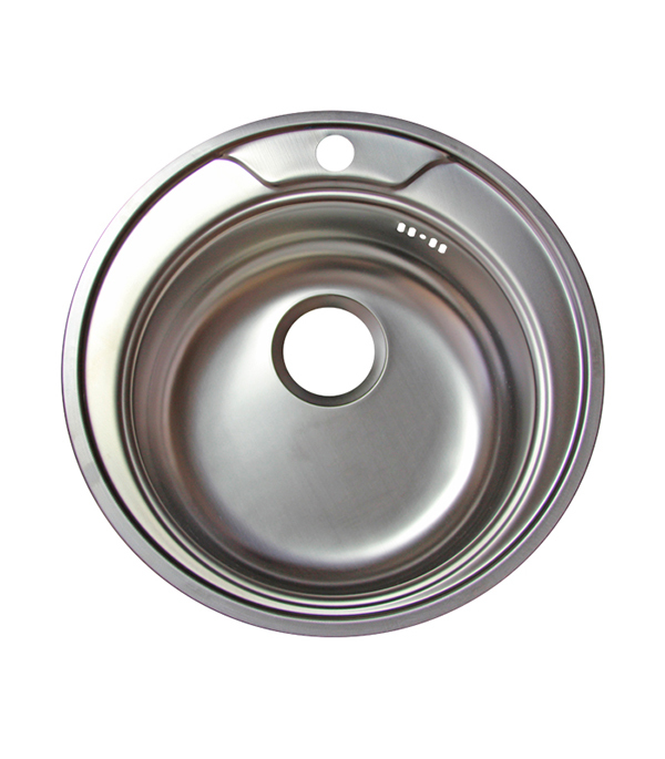 Мойка для кухни VLADIX 490х490х160 мм врезная круглая без крыла сталь
