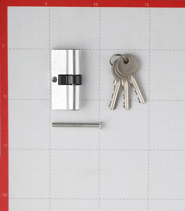 Цилиндр ФЗ E AL 60 CP 60 (30х30) мм ключ/ключ хром