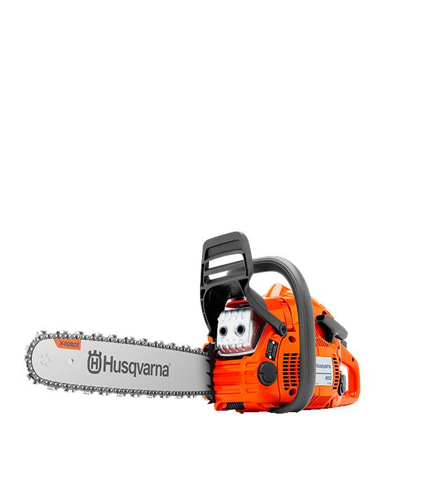 """Бензопила Husqvarna H450e II (9671569-75) 3,2 л.с. 15"""" шаг 0.325"""" паз 1,3 мм 64 звена"""