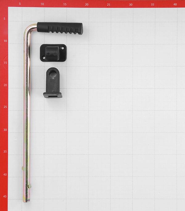 Засов воротный GAH ALBERTS вертикальный 400 мм оцинкованный черная ручка