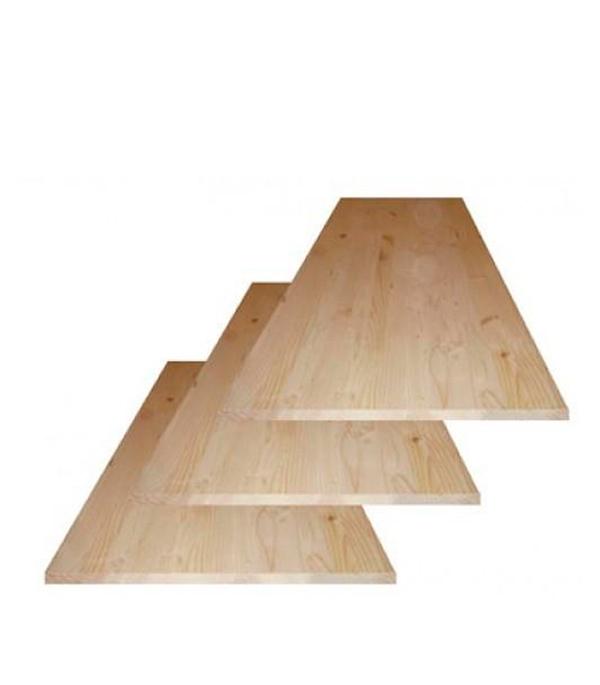 Щит мебельный хвоя 18х200х1200 мм сорт АВ клееный