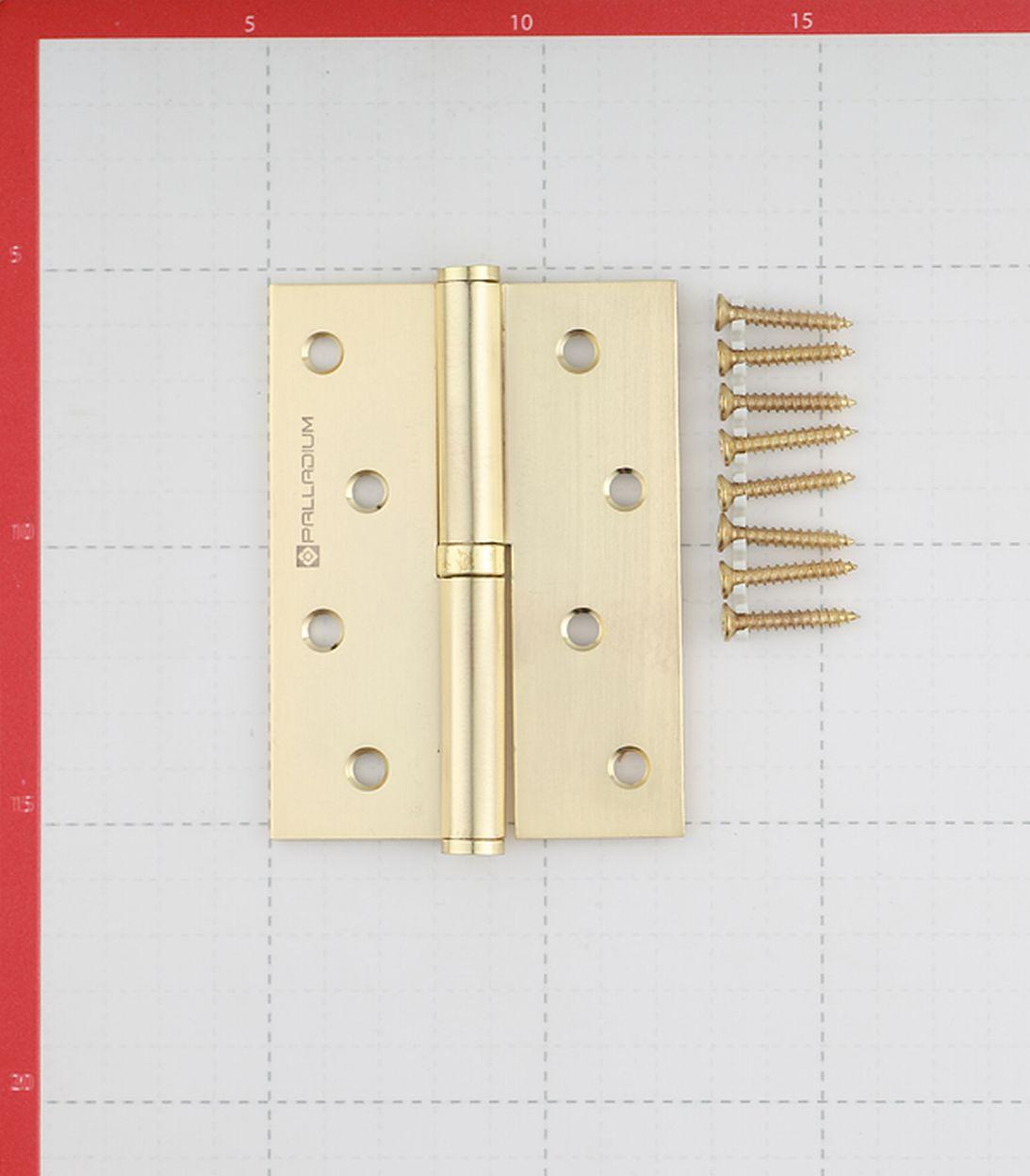 Петля Palladium N 613-S-4 SB правая разъемная 100х75 мм матовая латунь