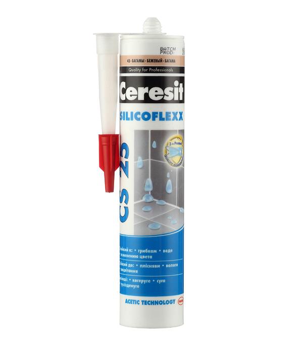 Герметик силиконовый затирка Ceresit CS 25 № 43 багамы беж. 280 мл