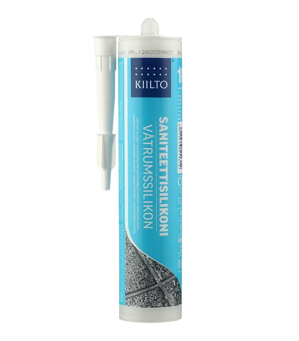 Герметик силиконовый санитарный Kiilto № 10 белый 310 мл