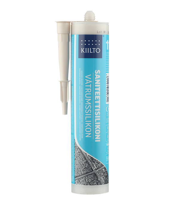 Герметик силиконовый санитарный Kiilto № 11 природно-белый 310 мл фото