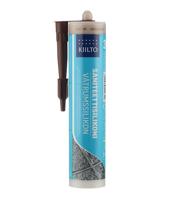 Герметик силиконовый санитарный Kiilto №31 светло-коричневый 310 мл фото