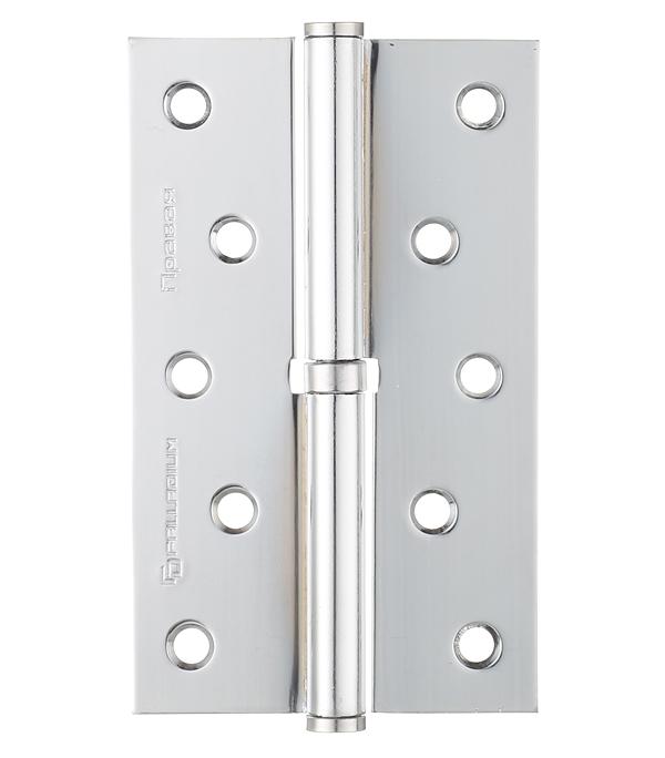 Петля Palladium N 613-S-5 CP правая разъемная 125х75 мм серебро