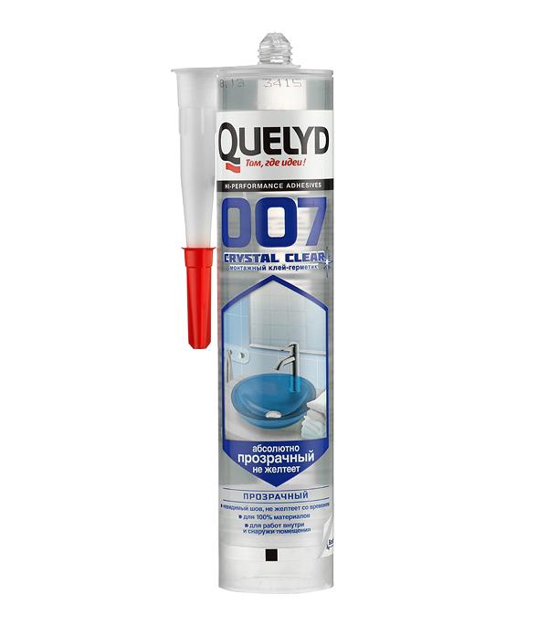 Клей-герметик Quelyd 007 Crystal Clear прозрачный 300 г