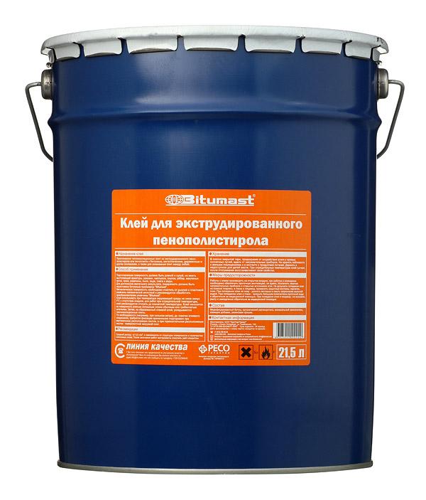 Клей для экструдированного пенополистирола Bitumast 21.5 л фото